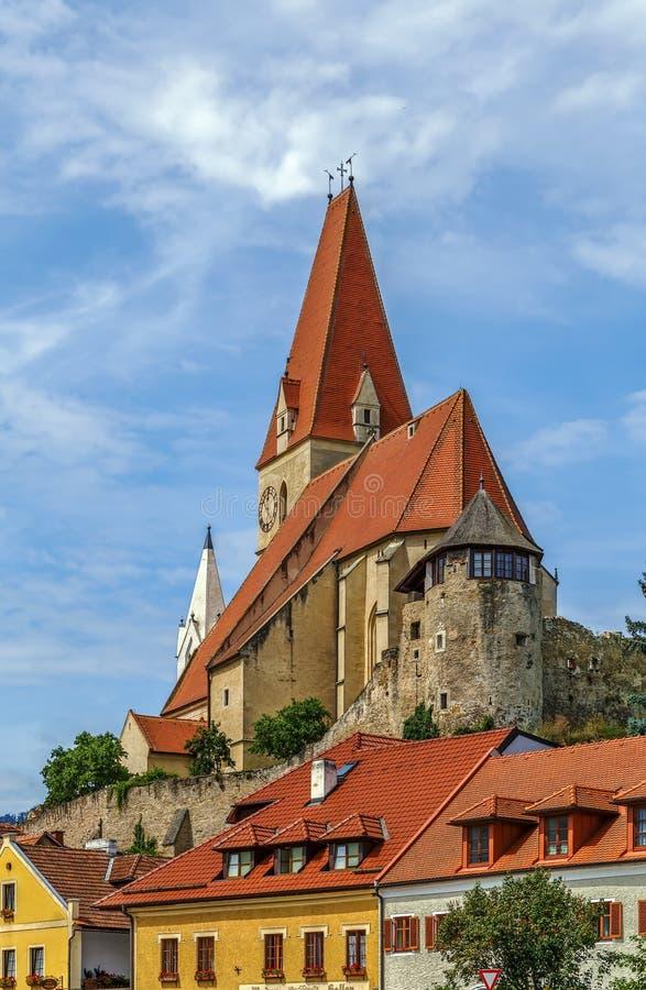 Kirche von Weissenkirchen, Österreich lizenzfreie stockbilder