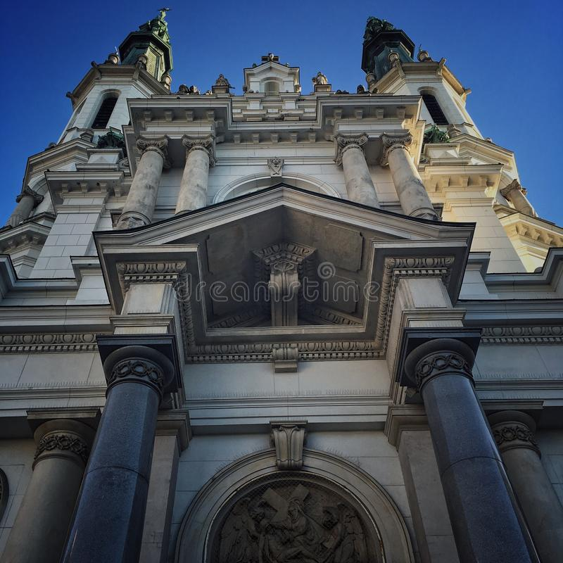Kirche in Warschau stockbilder