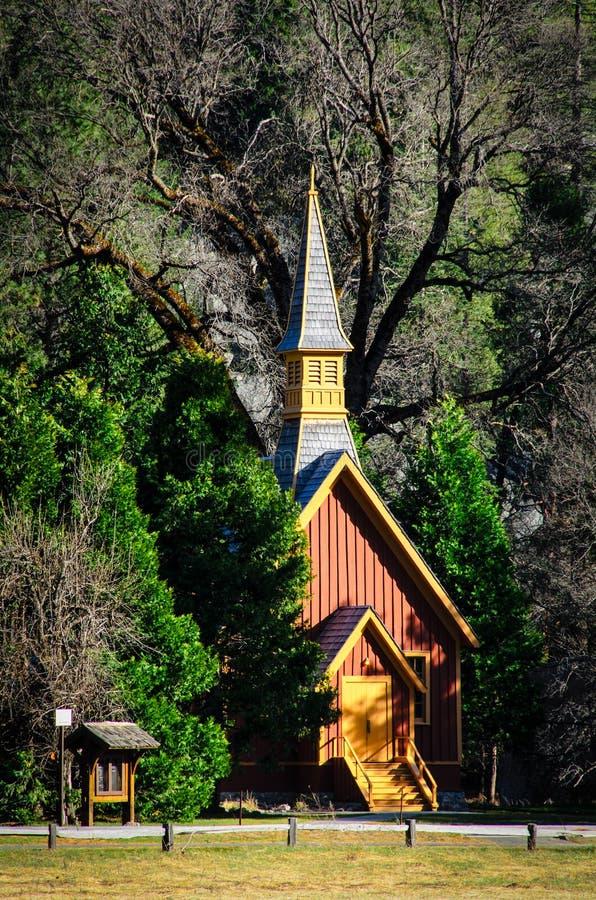 Kirche, Yosemite Nationalpark, USA lizenzfreie stockbilder