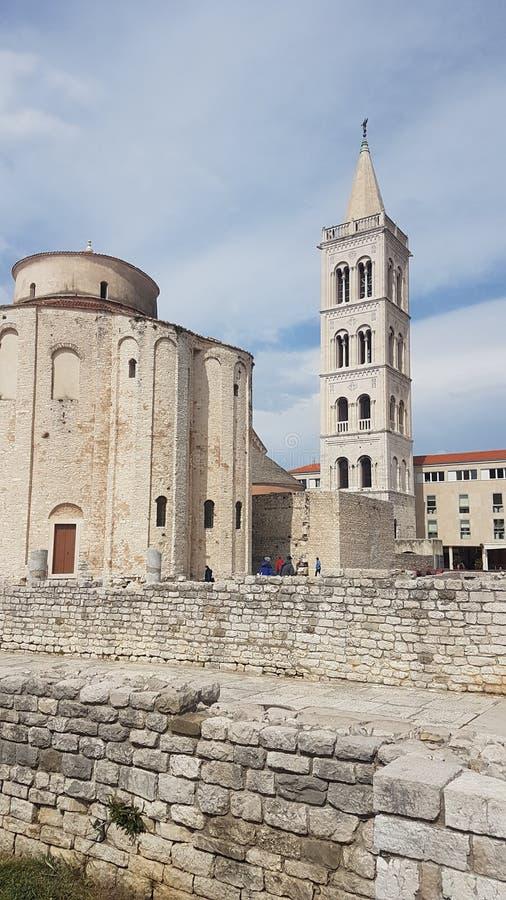 Kirche zadar stockbilder