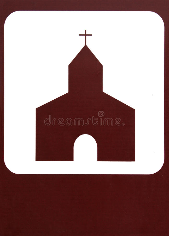 Kirche-Zeichen lizenzfreie stockfotos