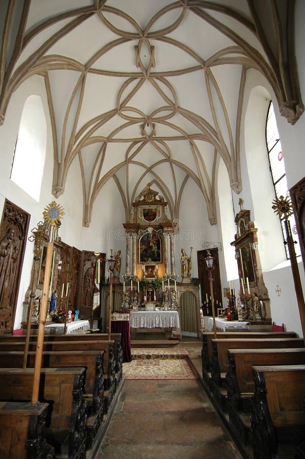 Kirche zuhause stockbild