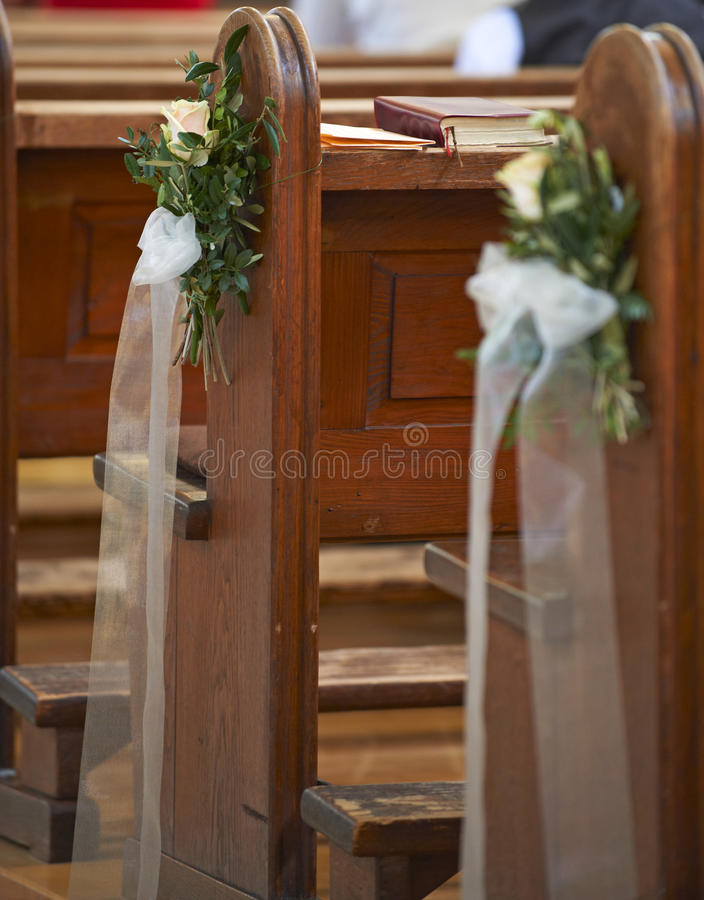Kirchebankdekoration stockfotografie