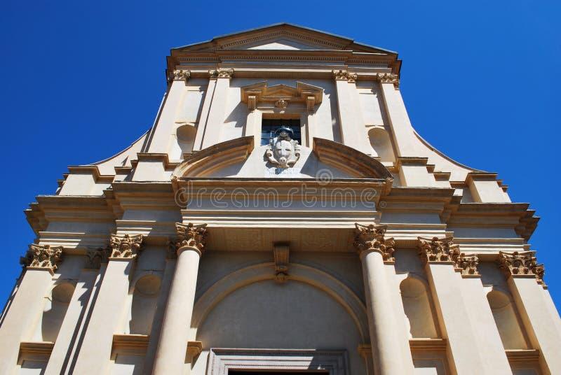 Kirchefassade Str.-Gaudenzio, Novara lizenzfreie stockfotos