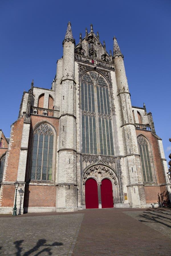 Kirchegebäude in der Stadt von Leiden, stockfoto