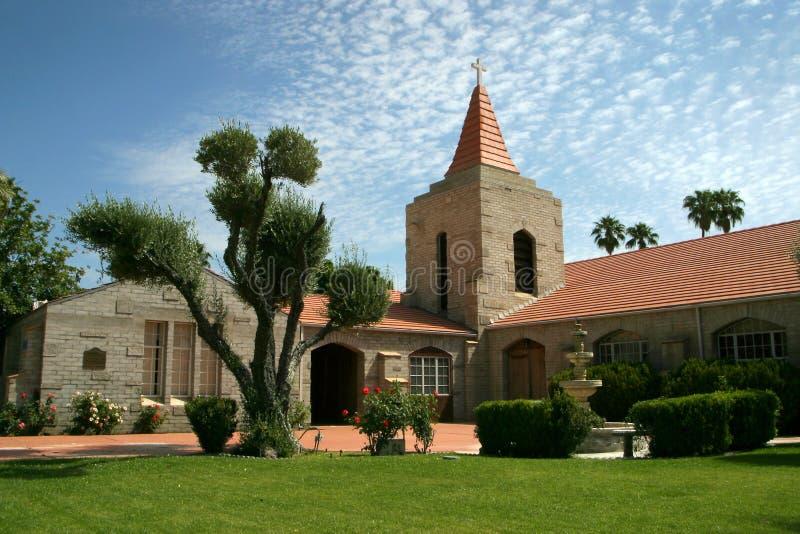 Kirchegebäude mit schönem Boden stockfotografie