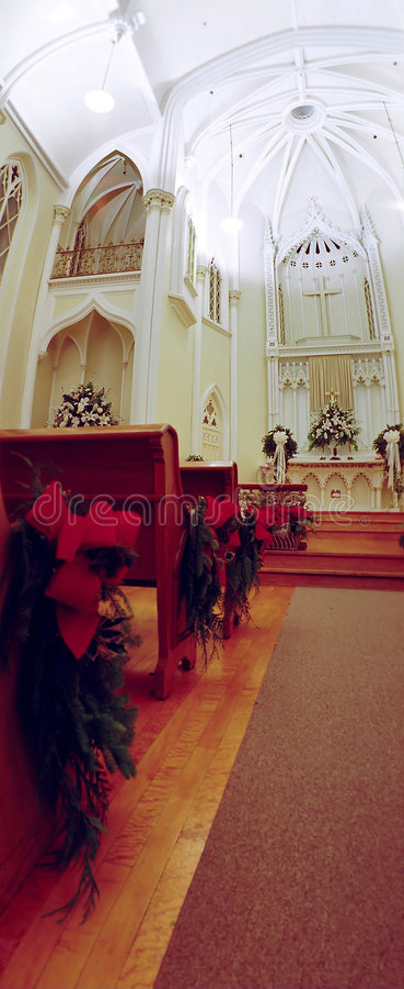Kircheinnenraum stockfotografie