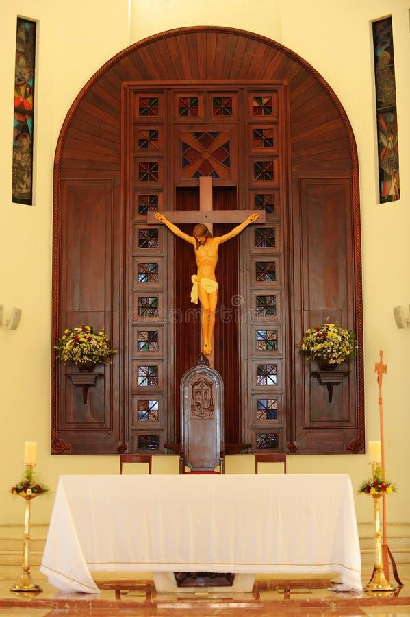 Kircheinnenraum der Dominikanischen Republik stockfoto