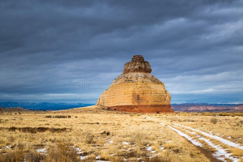 Kirchen-Felsen in Utah lizenzfreies stockbild