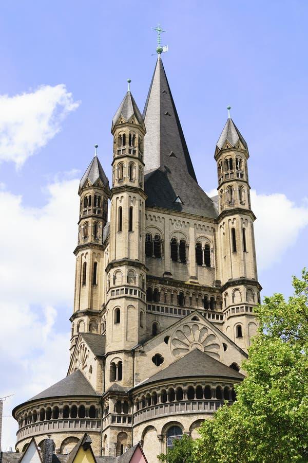 Kirchen-grobes St. Martin Cologne stockbild