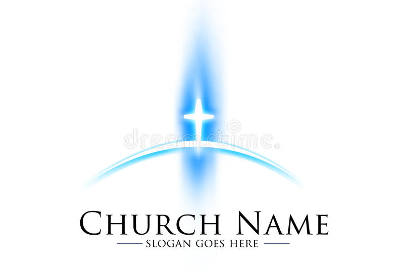 Kirchen-Logo stock abbildung