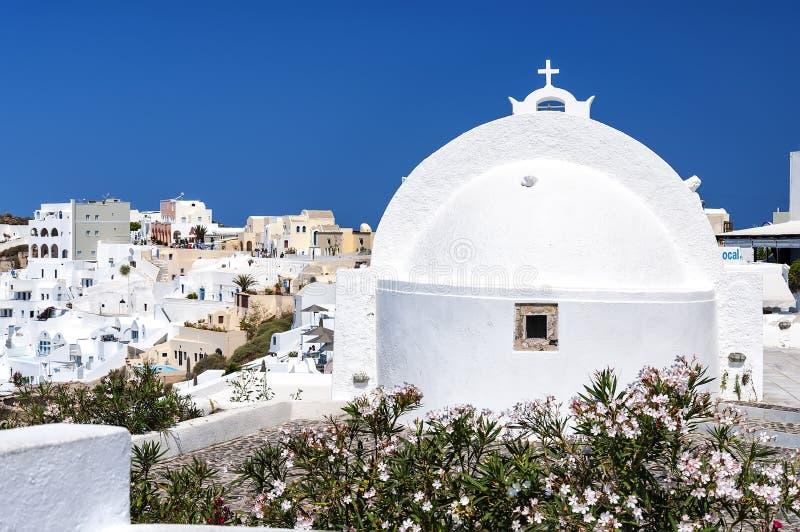 Kirchen-Rückseite Santorini Oia stockfoto