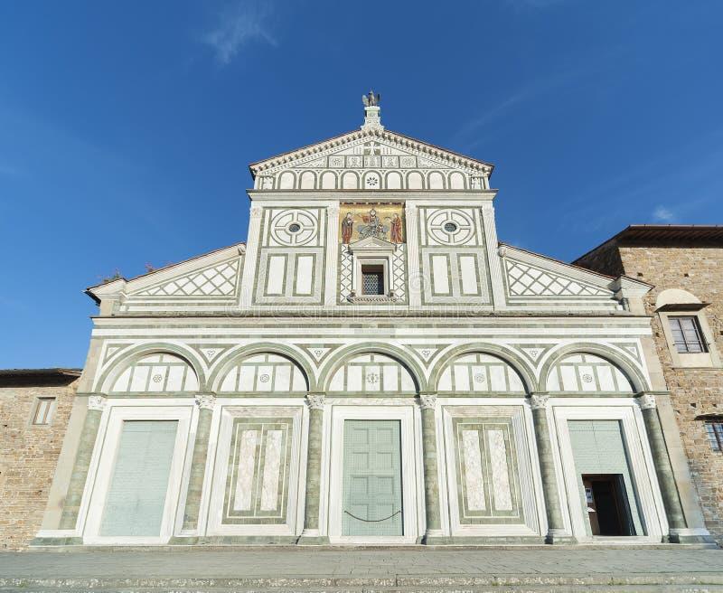 Kirchen-San Miniato-Al Monte in Florenz, Italien stockfoto