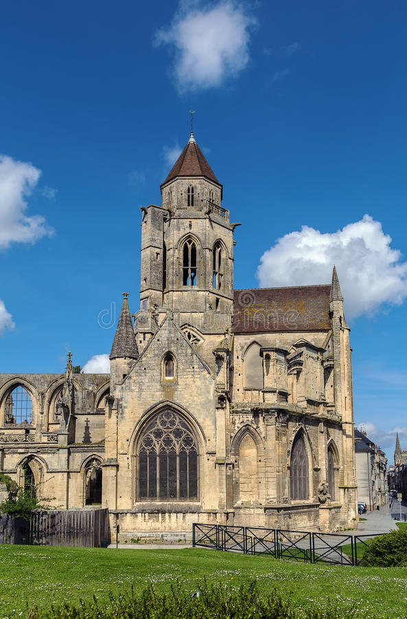 Kirchen-St. Etienne-Le-Vieux, Caen, Frankreich stockfoto