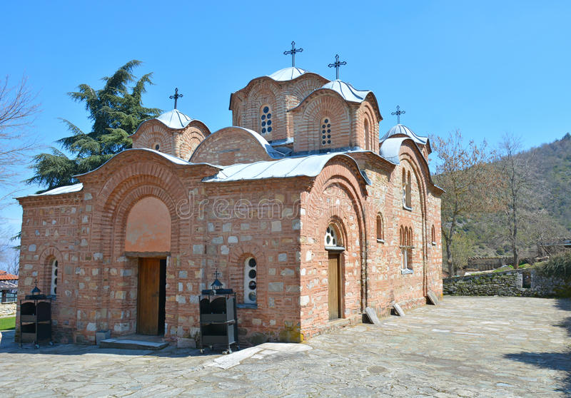 Kirchen-St. Pantelejmon in Skopje, Mazedonien stockfotografie