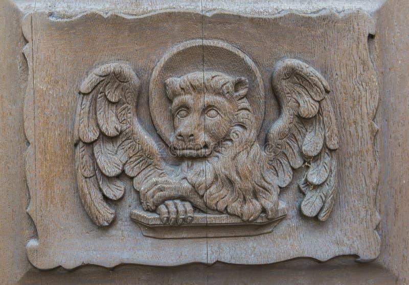 Kirchen-Tür Walluf Lion Marcus stockfoto