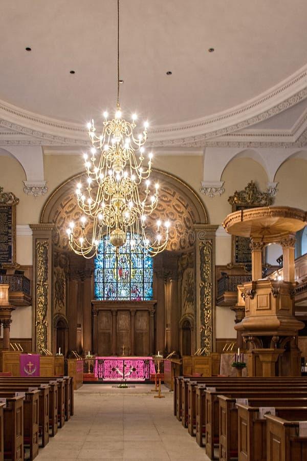 Kirchen-Trägheit St. Alfege in der Gemeinde von Greenwich stockfotografie