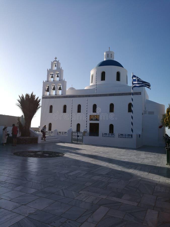Kirchen von Santorini lizenzfreie stockfotos