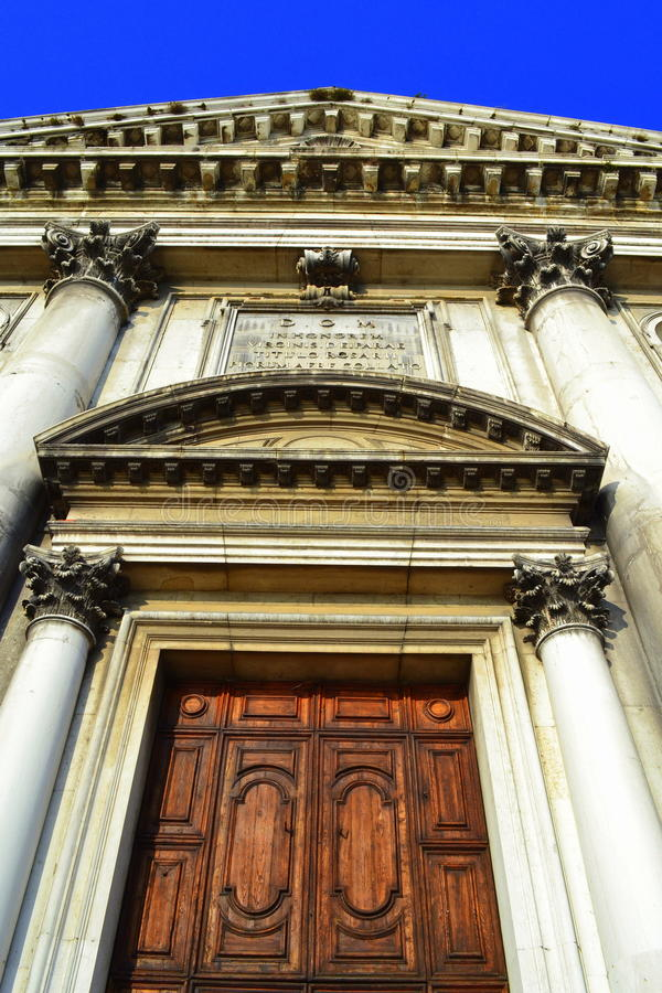 Kirchenfassade, Venedig, Italien lizenzfreies stockfoto