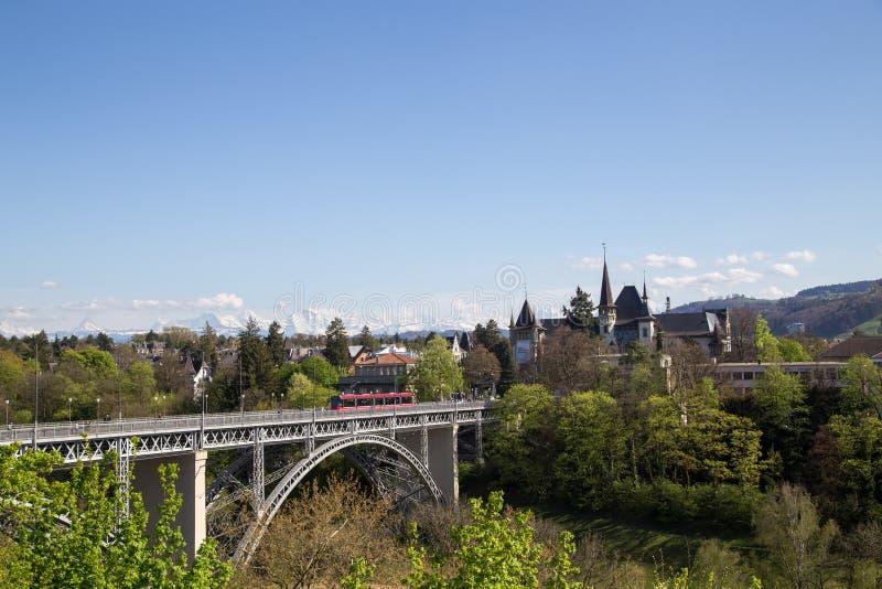 Kirchenfeldbrug in Bern, Zwitserland stock afbeelding