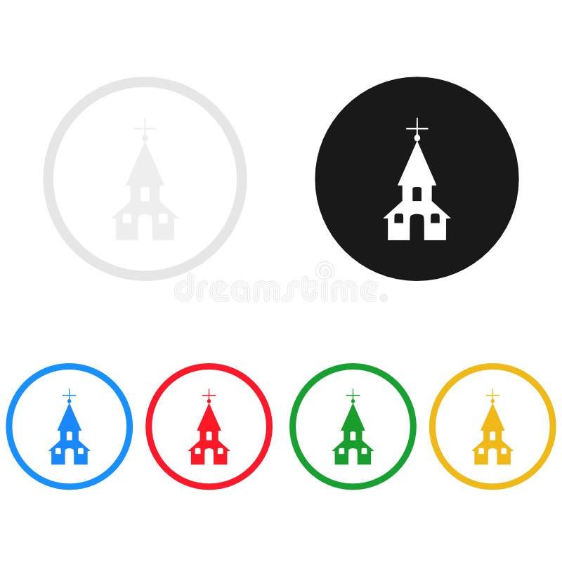 Kirchenikone, singen, Illustration stock abbildung