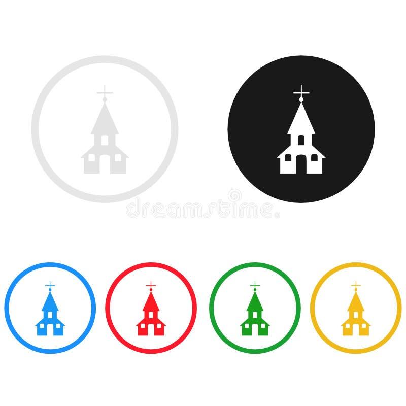 Kirchenikone, singen, Illustration lizenzfreie abbildung