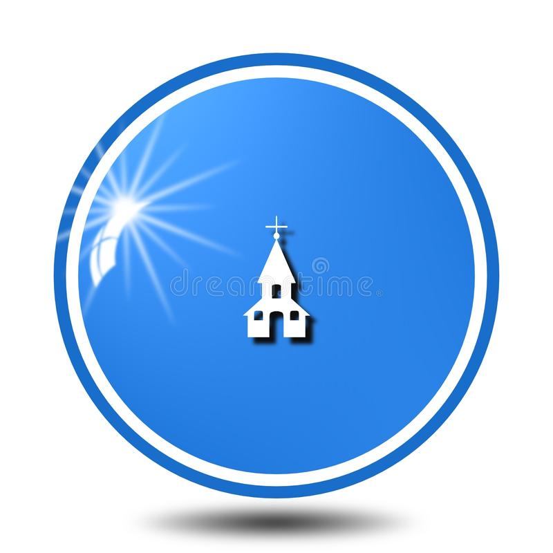 Kirchenikone, singen, Illustration vektor abbildung