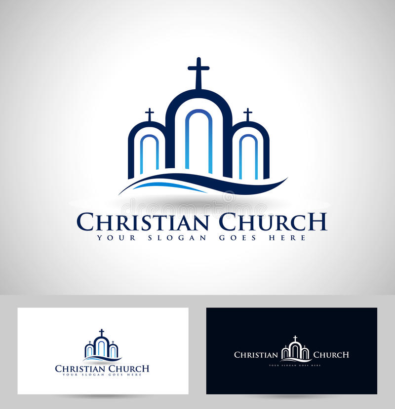 Kirchenlogo stock abbildung
