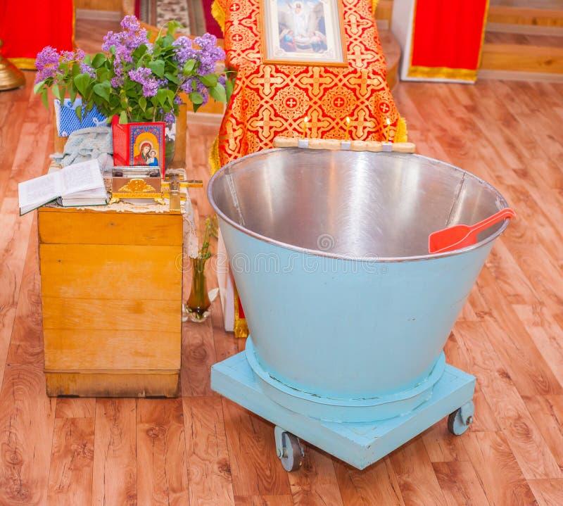 Kirchensachen für Taufe stockfoto