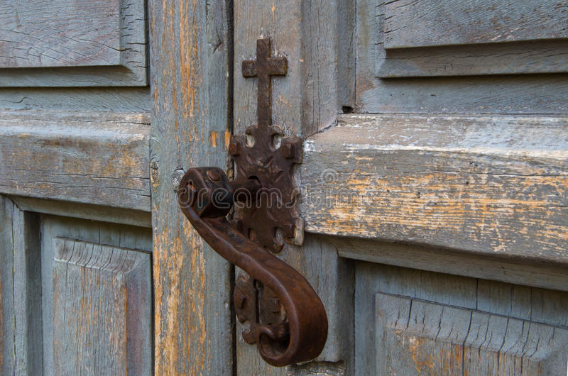 Kirchentürschloss stockbild