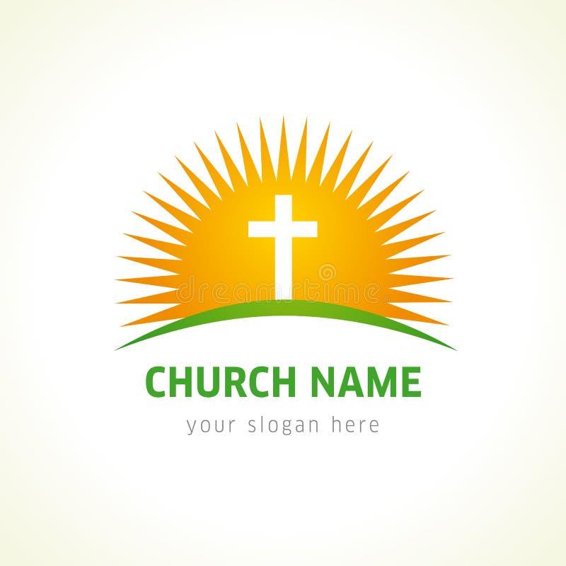 Kirchenvektorlogo lizenzfreie abbildung