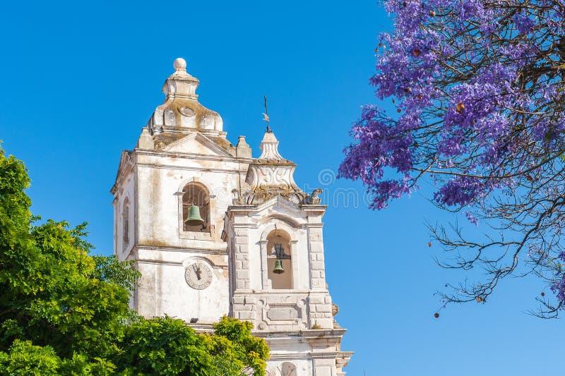 Kirchtürme in Lagos, Algarve, Portugal lizenzfreies stockfoto