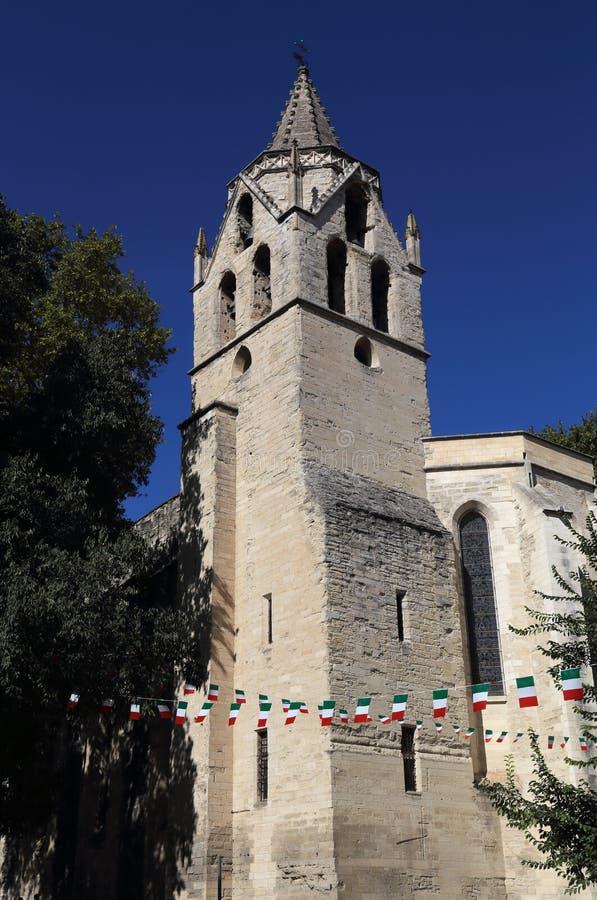 Kirchturm von Avignon, Frankreich stockfotos