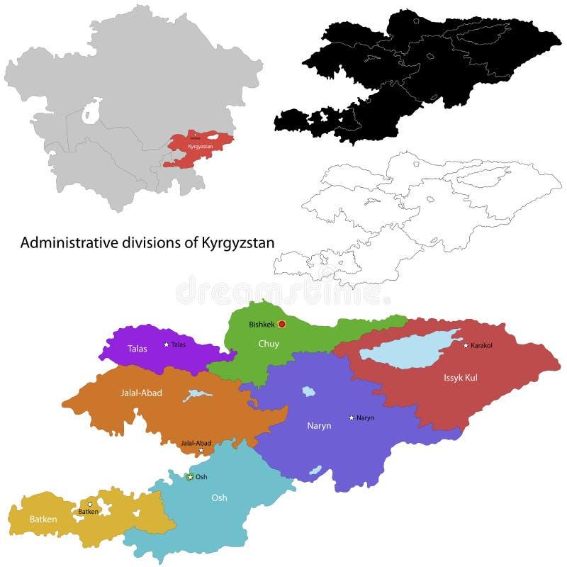 Kirgistan mapa ilustracja wektor