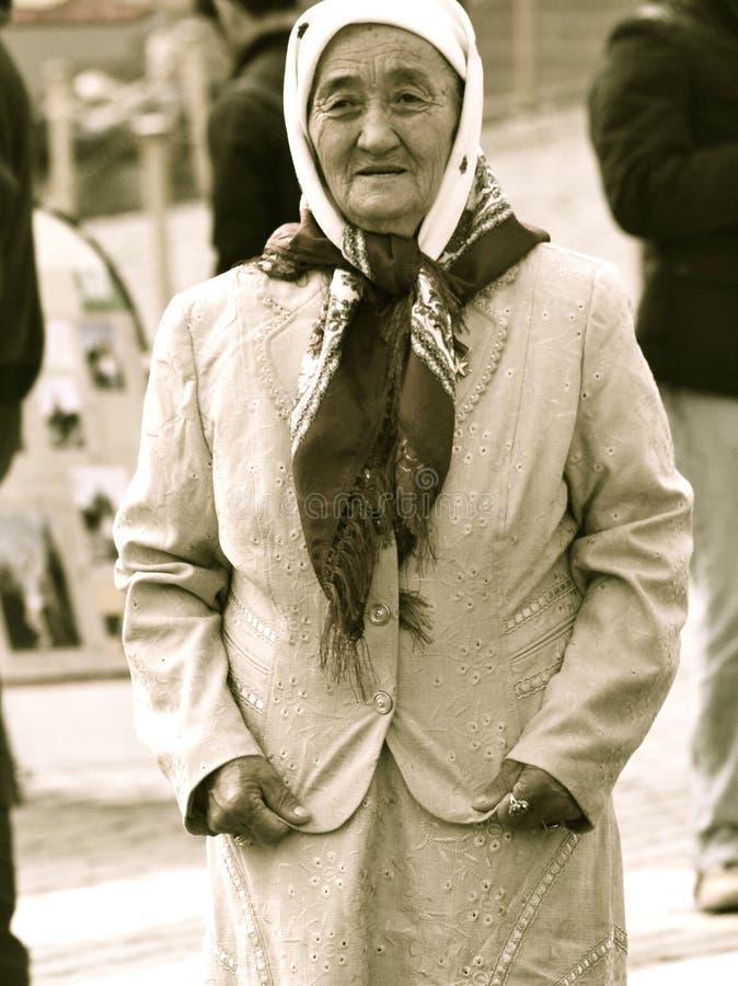 Kirgiz-Frau, Roter Platz, Moskau lizenzfreies stockfoto