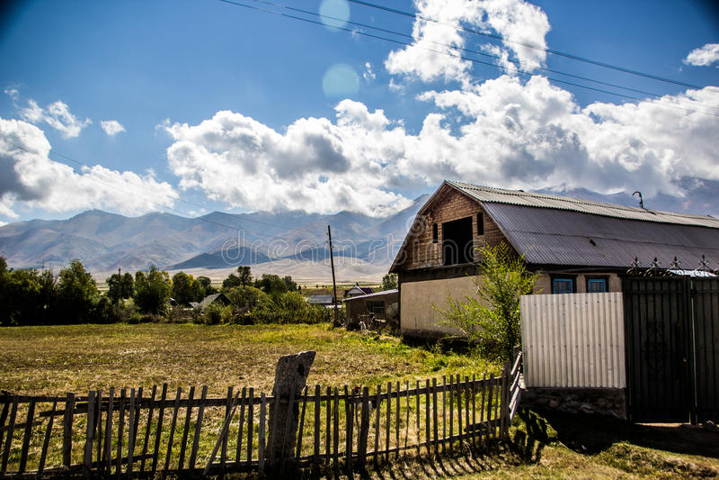 Kirgizstan hermoso foto de archivo