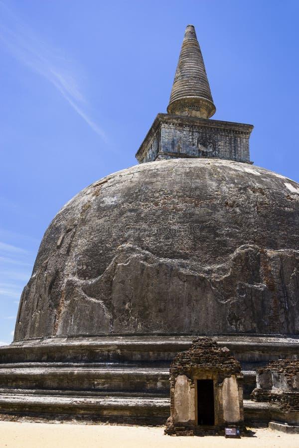 kiri lanka polonnaruwa sri vehera 免版税库存图片