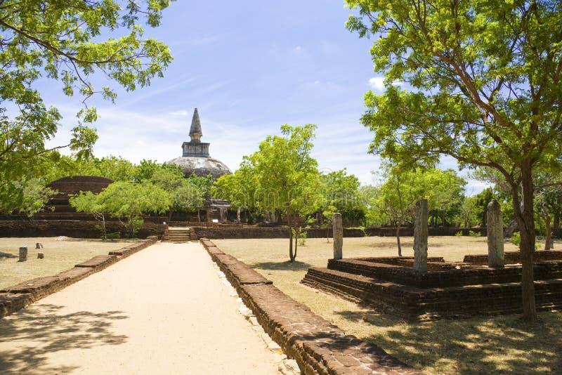 kiri lanka polonnaruwa sri vehera 免版税图库摄影