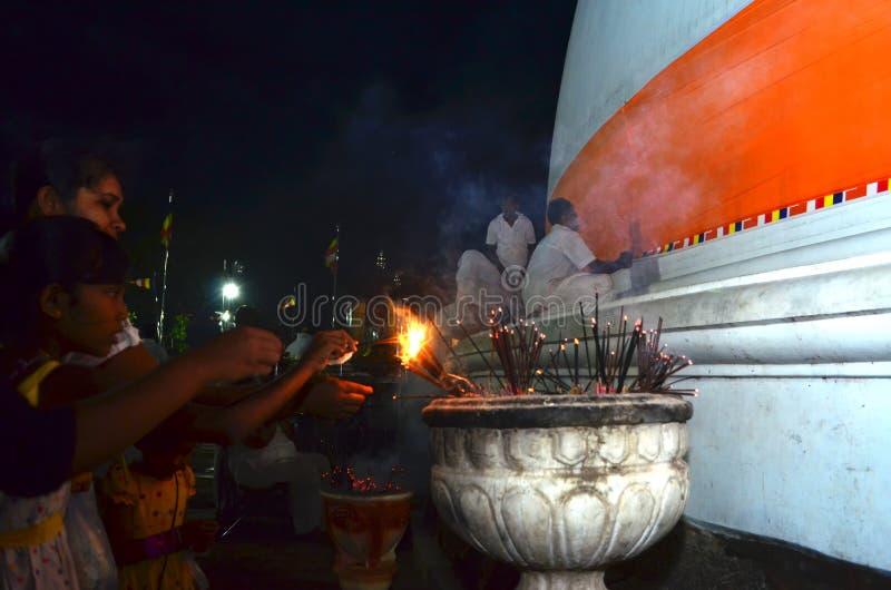 Kiri Vehera寺庙Kataragama 免版税库存图片