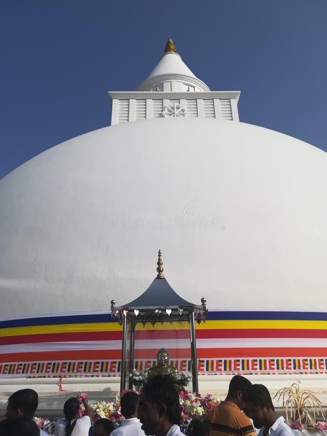 Kiri Vehera是在Kataragama位于的一古老stupa 免版税库存照片