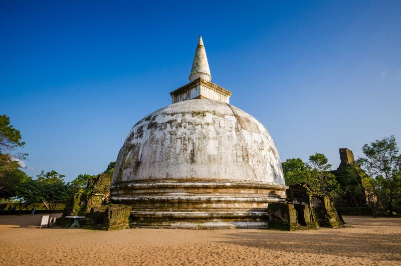 Kiri Vehera Dagoba, Polonnaruwa古城,联合国科教文组织世界遗产名录站点,斯里兰卡,亚洲 库存照片