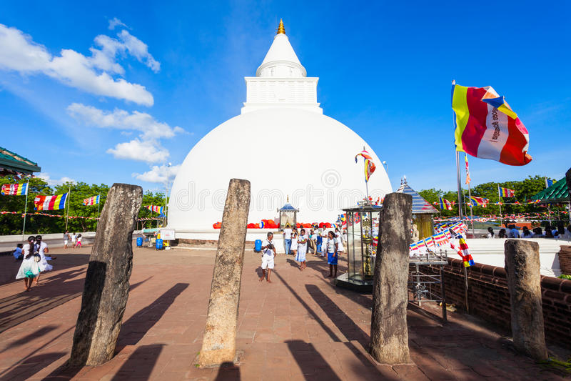 Kiri Vehera Kataragama tempel arkivfoto