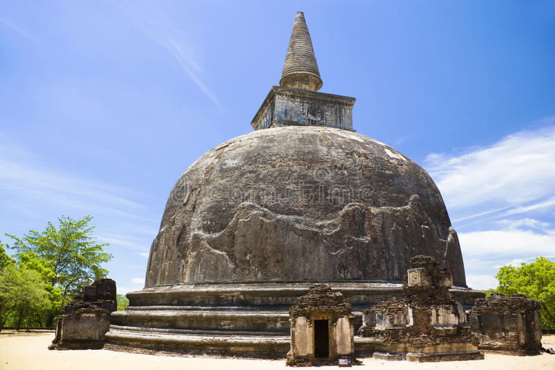 Kiri Vehera, Polonnaruwa, Sri Lanka imagem de stock