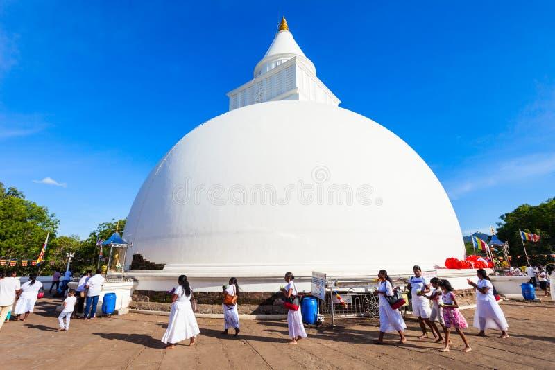Kiri Vehera, templo de Kataragama fotografia de stock