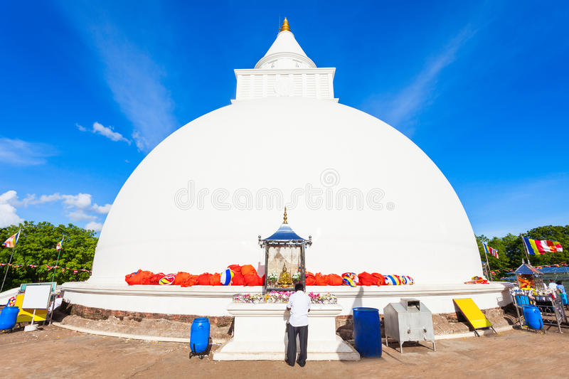 Kiri Vehera, templo de Kataragama foto de archivo
