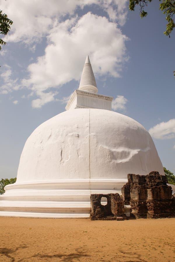 Kiri Vihara在Polonnaruwa,斯里兰卡 免版税库存图片