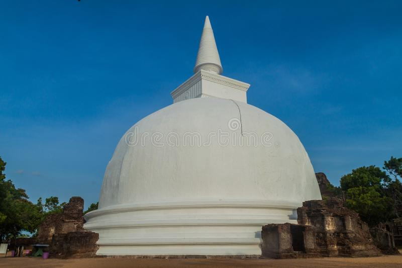 Kiri Vihara в древнем городе Polonnaruwa, Lan Sri стоковое изображение
