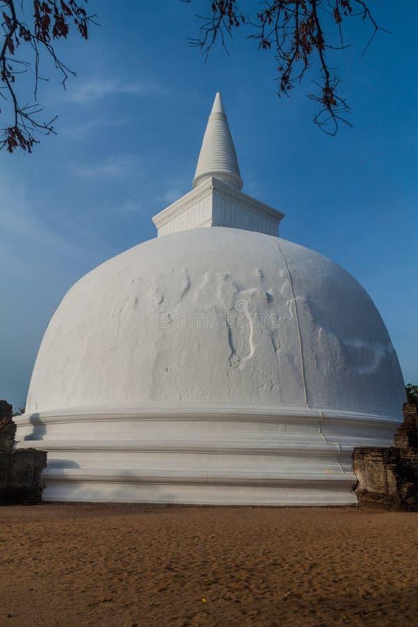 Kiri Vihara i den forntida staden Polonnaruwa, Sri LAN arkivbilder