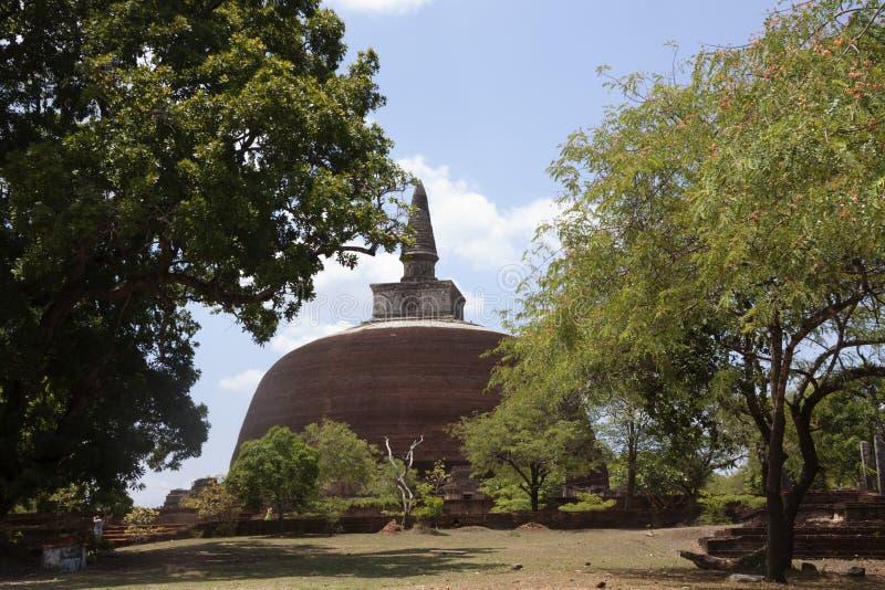 Kiri Vihara i Polonnaruwa eller Pulattipura den forntida staden, kungarike royaltyfria bilder