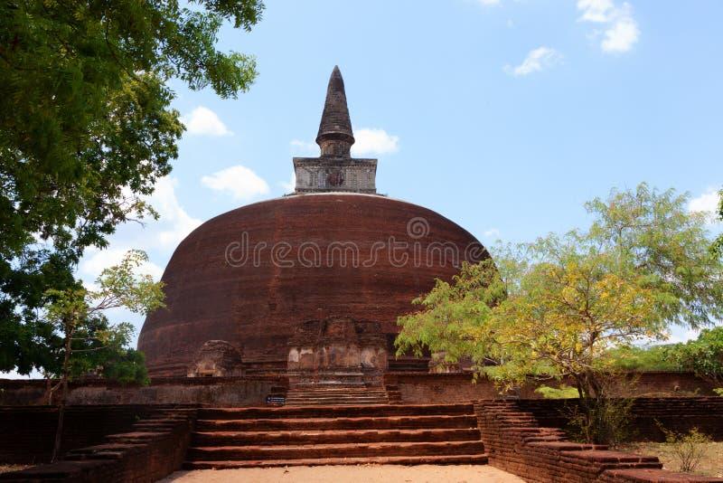 Kiri Vihara na cidade antiga de Polonnaruwa ou de Pulattipura, reino imagem de stock